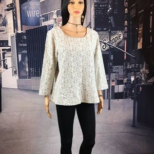 J.Crew Lace top size Xl Fully Lined not thin.